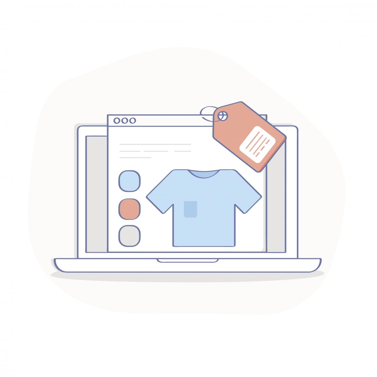 cartoon of a product detail page