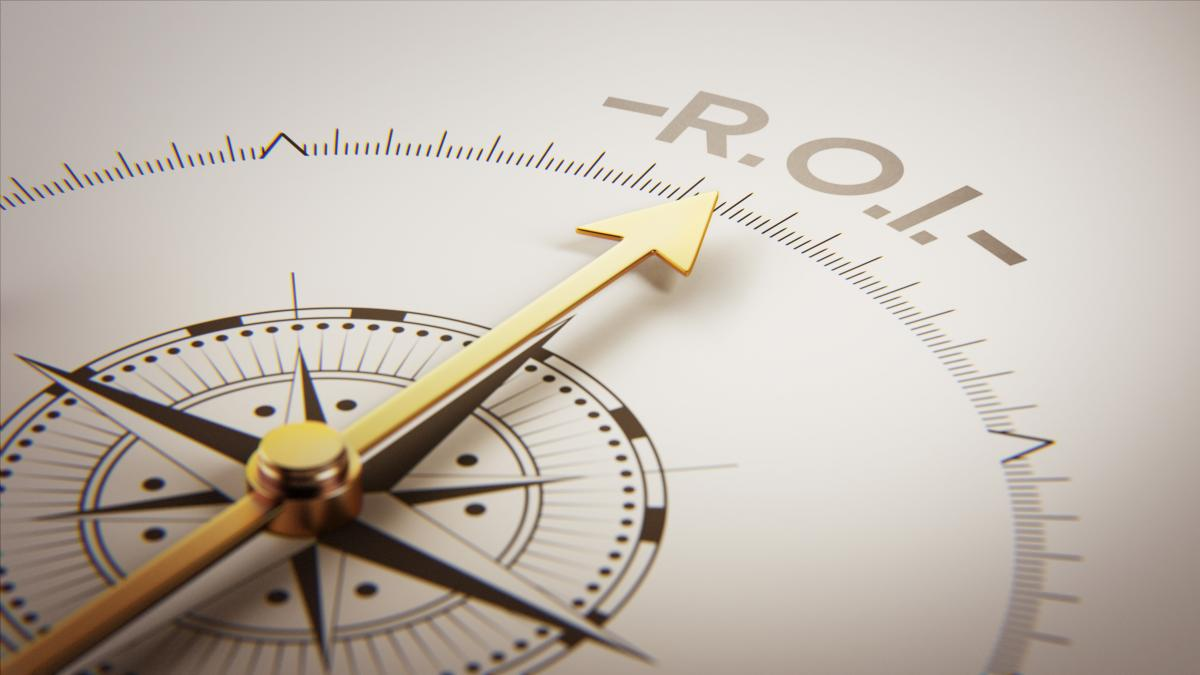 compass pointing to ROI
