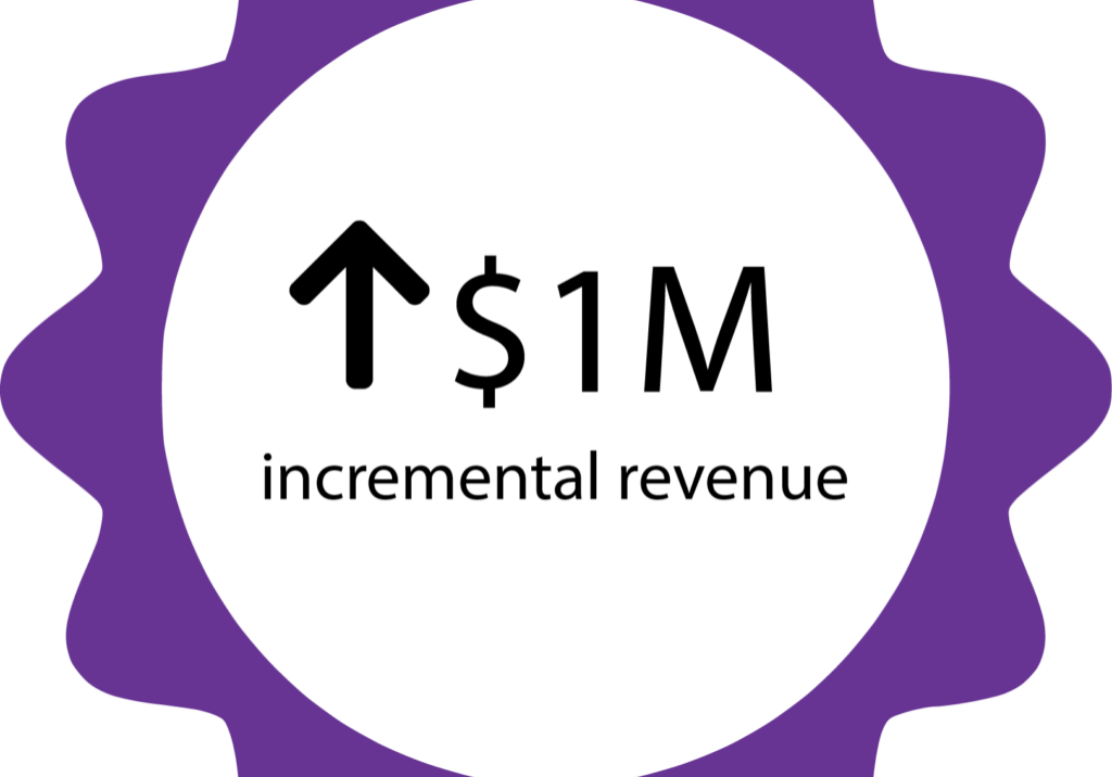 $1m incremental revenue