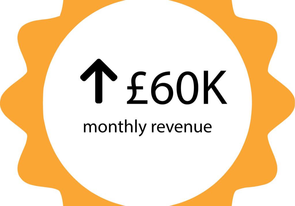 60k monthly revenue