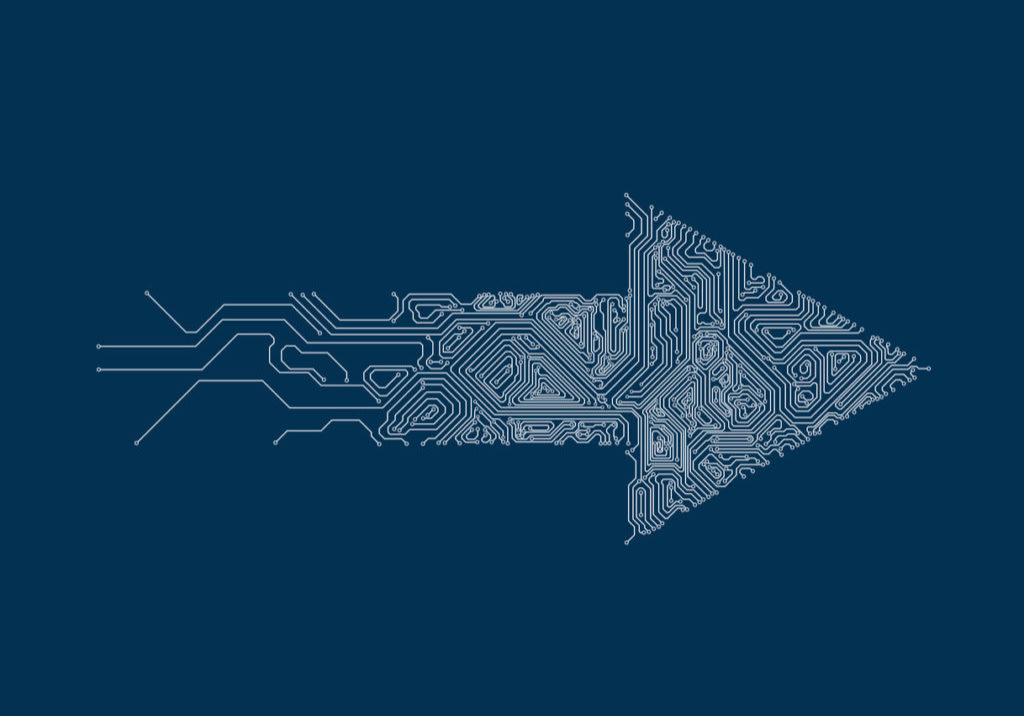 Vector illustration, a pattern composed of circuit boards.