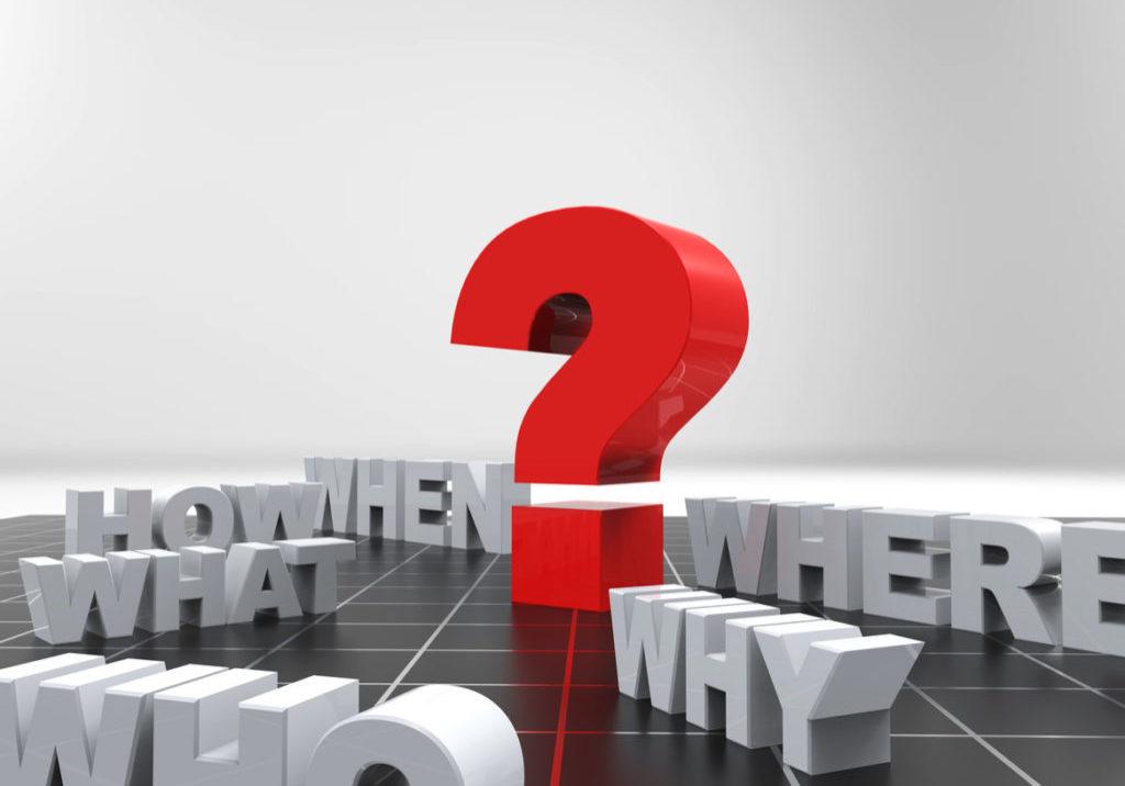 questions, 3d word concept